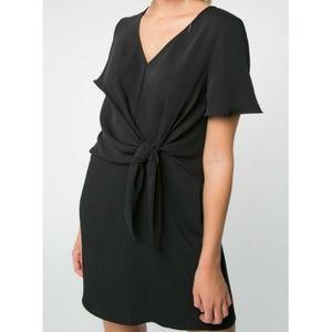 Everly little black dress, flutter sleeves, size M